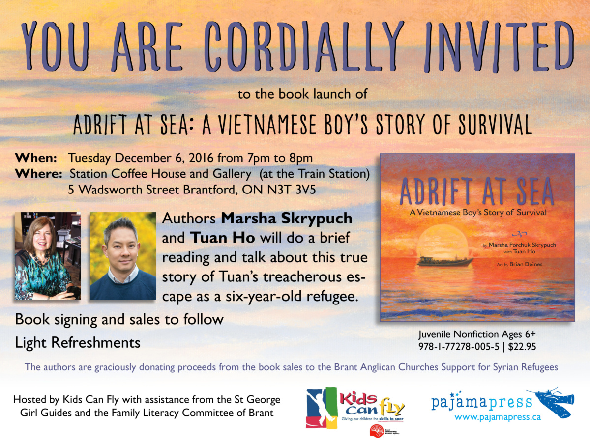 Book Launch December 6th for Adrift At Sea